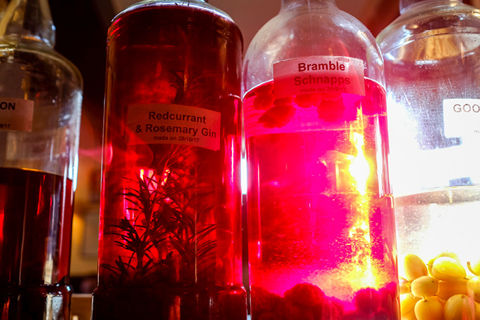 Liqueurs from the garden